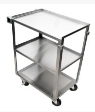 "39.5"" 18 Gauge 304 Stainless Steel Welded Utility Cart - 22 3/8"" X 39 1/4"" X 37 1/4"" 