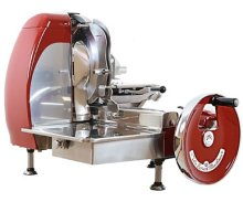 "Volano 14 1/2 "" Red Manual Meat Slicer with Standard Flywheel 