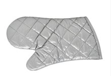 "13"" Silver Coated Heat Resistant Oven Mitts  