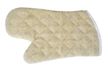 "13"" Terry-Cloth Oven Mitts with Silicon Lining 