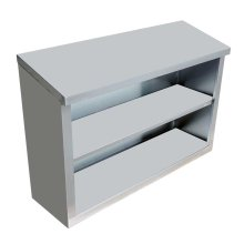 "Stainless Steel Open Wall Cabinet with Sloping Top 15"" X 36"" X 32"" 