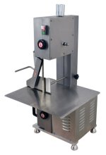 "Omcan BS-CN-1651-T 65"" Tabletop Stainless Steel Meat Band Saw 