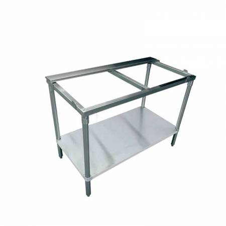"Zanduco 30"" x 48"" Solid Poly Top Table with Undershelf 