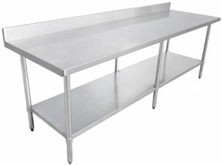 "Zanduco Worktable 24"" X 84"" with 4"" Backsplash-Standard 