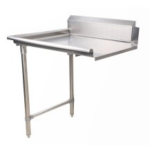 "Zanduco 26"" Left Side Clean Dish Table"