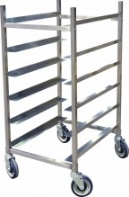 6 Slides Universal Pan Rack - Stainless Steel | Material Handling Transport & Storage | Zanduco US