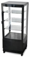 "Zanduco 17"" Countertop Four Sided Glass Refrigerated Showcase - Single Door 