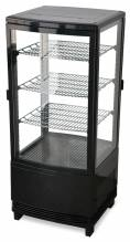 "Zanduco 17"" Countertop Four Sided Glass Refrigerated Showcase - Two Door 