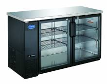 "Zanduco 61"" Heavy Duty Glass Door Bottle Cooler 