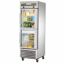 True T-23DT-G-HC~FGD01 One Section Reach In Combination Refrigerator / Freezer with Glass Doors | Refrigeration Equipment | Zanduco CA