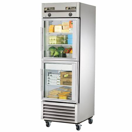True T-23DT-G-HC~FGD01 One Section Reach In Combination Refrigerator / Freezer with Glass Doors | Refrigeration Equipment | Zanduco US