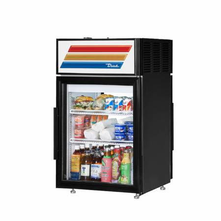 True GDM-5PT-LD Pass-Through Countertop Display Refrigerator with Swing Door - 5 cu. ft. | Glass Door Merchandisers | Zanduco US