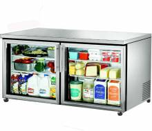 "True TUC-60G-HC~FGD01 60"" Undercounter Refrigerator with Glass Doors 