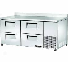 True TWT-67D-4 Deep Work Top Refrigerator with Four Drawers - 20.6 Cu. Ft. | Commercial Refrigeration | Zanduco US