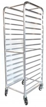 15 Slides Bun Pan Rack - Aluminum | Material Handling Transport & Storage | Zanduco US