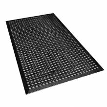 Omcan Black Anti-Fatigue Mat - 3' x 5' x 3/8""