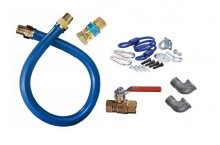 "36"" L, Moveable Gas Connector Kit, 3/4 IN ID, CAN 1675KIT36 