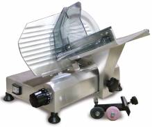 "8"" Belt-Driven Slicer with Removable Blade Sharpener 