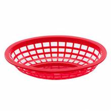 "8"" Basket Red Round 80752 
