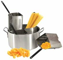 Aluminum Pasta Cooker Set with 4 Stainless Steel Inserts | Smallwares | Zanduco US