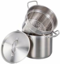 8 QT Steamer/Pasta Cooker | Smallwares | Zanduco US