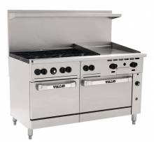 "Vulcan 60SS-6B24GP Endurance Series Liquid Propane 60"" Range with 6 Burners 24"" Griddle and 2 Ovens - 278,000 BTU 