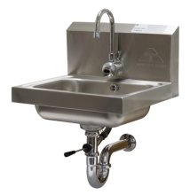 Advance Tabco 7-PS-51 Wall Mount Hand Sink with Hands-Free Electronic Faucet  | Sinks & Dish Room | Zanduco US