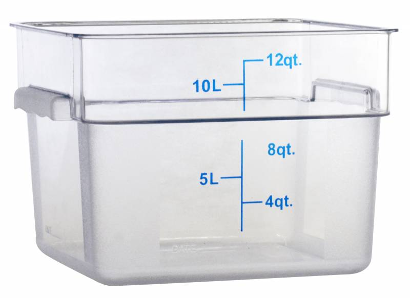 Zanduco 12 qt Food Storage Container Square Clear Pc Nsf 80167  sc 1 st  Zanduco & 12 qt Food Storage Container Square Clear Pc Nsf 80167 | Square ...