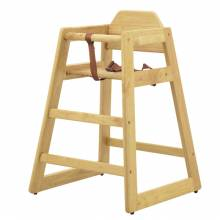 Commercial Wooden High Chair with Natural Finish | Furniture | Zanduco US
