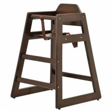 Commercial Wooden High Chair with Walnut Finish | Furniture | Zanduco CA