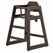 Commercial Wooden High Chair with Mahogany Finish | Furniture | Zanduco US