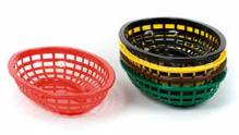"Discontinued - 9.5"" Basket Black Oval 80741 