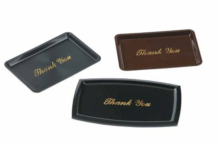 Check Tray Thank You 4.5 X 6.5 Black 9377 | Smallwares | Zanduco US