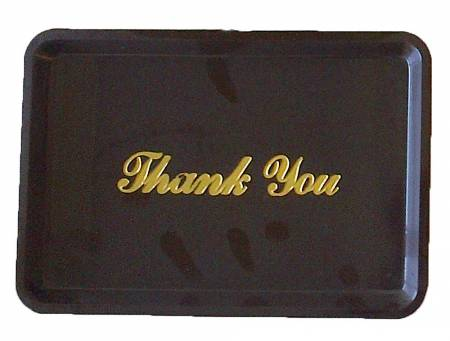 Check Tray Thank You 4.5 X 6.5 Brown 9379 | Smallwares | Zanduco US