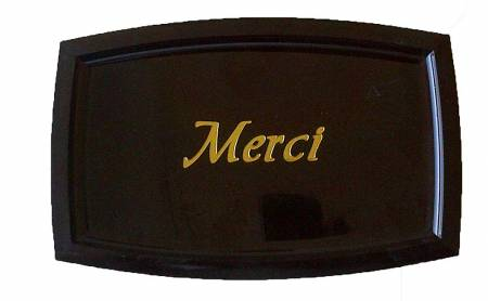 Check Tray Merci 5 X 8 Brown 9384 | Smallwares | Zanduco CA