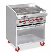 "American Range ADJF-72 72"" Adjustable Top Radiant Broilers Floor Model with Open Cabinet Base 