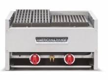 "American Range AECB-24 24"" Countertop Gas Char Rock Broiler 70,000 BTU 