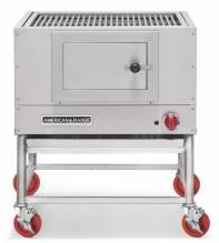 "American Range AMSQ-30 Mesquite 30"" Wide Broiler with a Gas Log Starter 