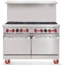"American Range AR-8 48"" Heavy Duty Gas Range with 8 Burners 