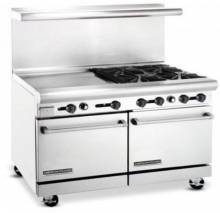 "American Range AR24G-4B 48"" Heavy Duty Gas Range with 24"" Griddle & 4 Burners 