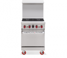 "American Range AR-4  24"" Heavy Duty Restaurant Gas Range with 4 Burners 