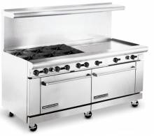 "American Range AR6B-36RG 72"" Heavy Duty Gas Range with 6 Burners & 36"" Raised Griddle 