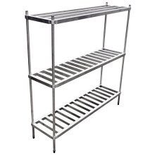 "6 Keg Aluminum Keg Rack 20"" x 60"" x 76"" 