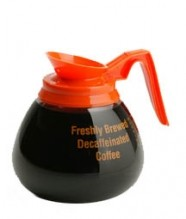 Bloomfield Glass Decaf Decanter with Orange Handle | Bar Service & Tablewares | Zanduco CA