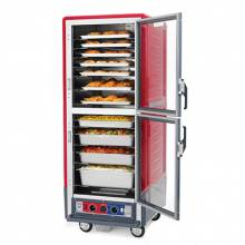 Metro C539-HDC-U C5 3 Series Heated Holding Cabinet with Clear Dutch Doors - Red | Kitchen Equipment | Zanduco CA