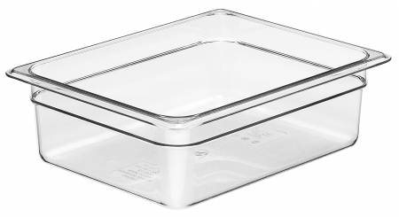 Cambro 24CW Food Pan - Camwear - Polycarbonate - Clear - 1/2 Size    Case Pack 6 | Smallwares | Zanduco CA