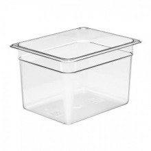 Cambro 28CW135 Food Pan - Camwear - Polycarbonate - Clear - 1/2 Size    Case Pack 6