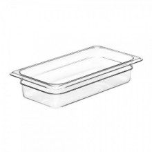 Cambro 32CW Food Pan - Camwear - Polycarbonate - Clear - 1/3 Size    Case Pack 6 | Smallwares | Zanduco US