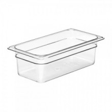 Cambro 34CW Food Pan - Camwear - Polycarbonate - Clear - 1/3 Size    Case Pack 6 | Smallwares | Zanduco US