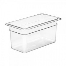 Cambro 36CW Food Pan - Camwear - Polycarbonate - Clear - 1/3 Size    Case Pack 6 | Smallwares | Zanduco US